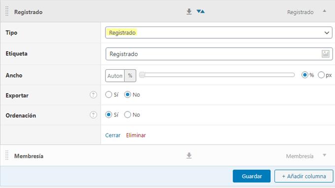 Fecha de registro de usuario con Admin Columns